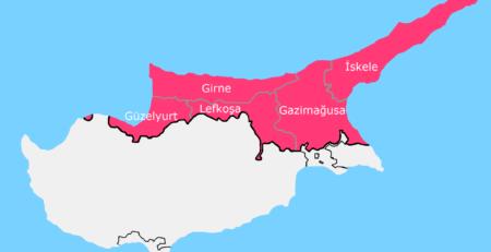 kuzey-kıbrıs-il-ilçeleri